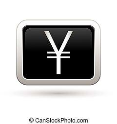 Yen icon. Vector illustration