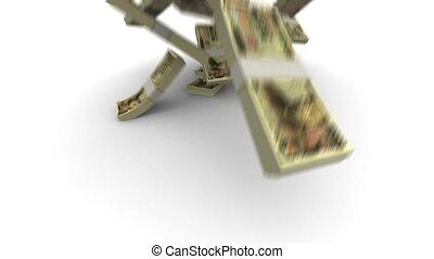 yen, paquets, -, jpy, réaliste, tomber