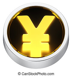 Yen round icon