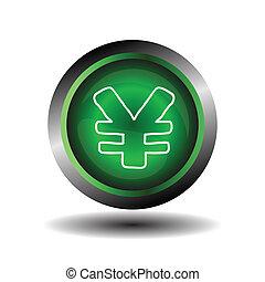 Yen sign internet icon