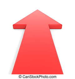 yendo, forward., flecha roja