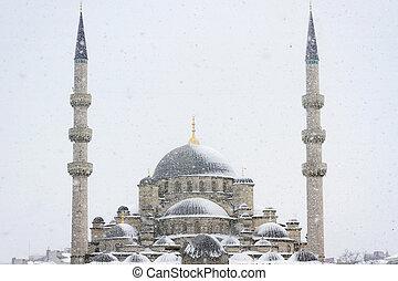 yeni, mesquita, Inverno