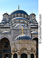 Yeni Mosque, New Mosque or Mosque of the Valide Sultan, Istanbul, Turkey