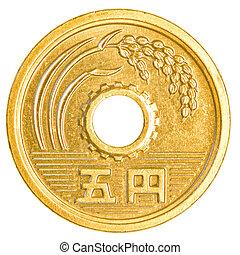 yens, 5, japán, érme
