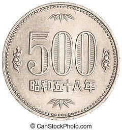 yens, japonés, 500, moneda
