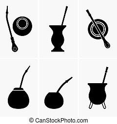 Yerba mate - Vessels and sticks for yerba mate