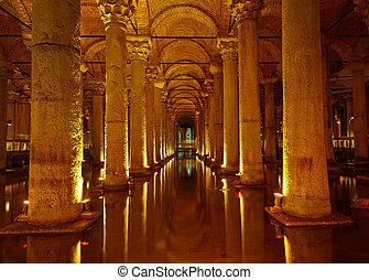 Yerebatan Saray - Basilica Cistern in Istanbul, Turkey