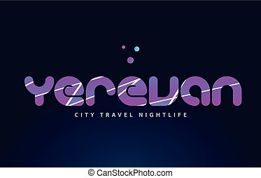 yerevan european capital word text typography design