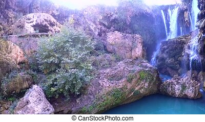 yerkopru waterfalls, hadim, konya, turkey.