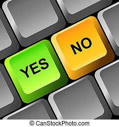 YES and NO button on the keyboard.
