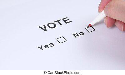 Yes And No Checkbox Marking. - Yes And No, No choose