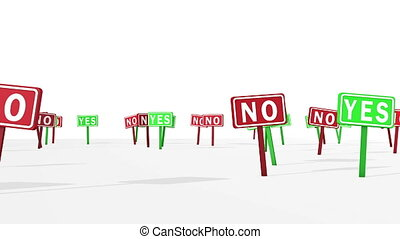 """""""Yes and No Concept in Road Symbols"""" - """"A panoramic 3d..."""