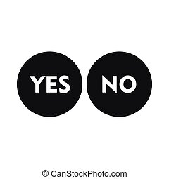 Yes and No icon, simple style