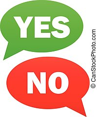 Yes and no icon vector simple - Yes and no icon. Vector...