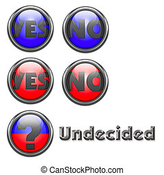 Yes and No voting buttons