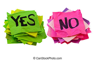 yes and no - voting, poll or survey concept - yes and no...