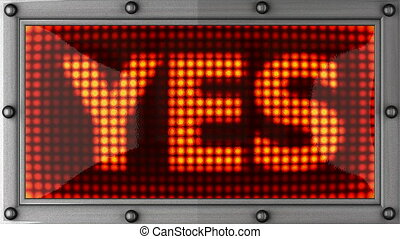 yes - announcement on the LED display