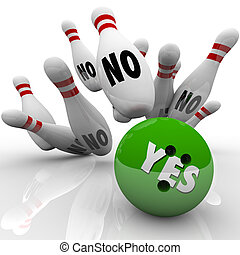 Yes Bowling Ball No Pins Overcoming Objection Answer - The ...