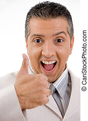yes - businessman with thumbs up