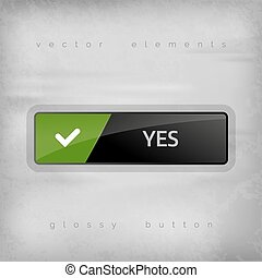 Yes Button - Modern buttons YES with color space for icons....