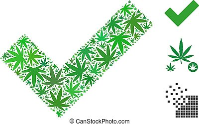 Yes Composition of Hemp Leaves - Yes composition of cannabis...