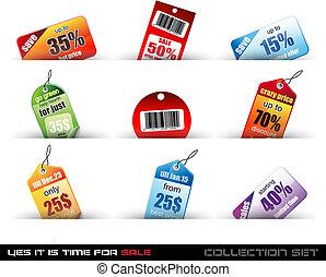 Yes it's time to sale! Set o f 9 Sale Tags with a lot of...
