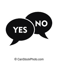 Yes No bubbles icon, simple style
