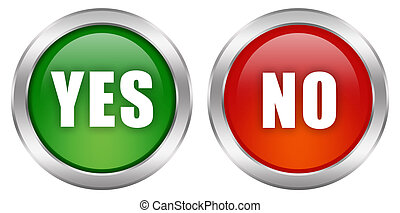 Yes no buttons set