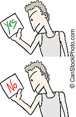 Yes no card