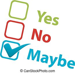 Yes No Maybe icons