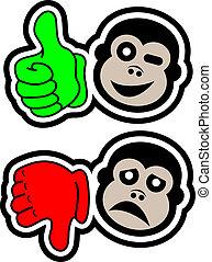 Yes no monkey