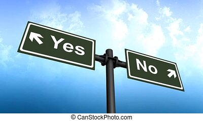 Yes No signboard