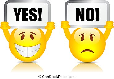 Yes no vector signs