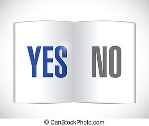 yes or no book illustration design