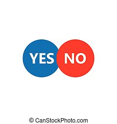 YES or NO button
