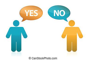 yes or no illustration design
