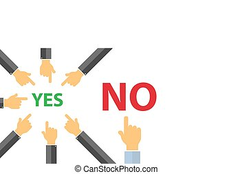 yes or no , peer pressure concept - think different concept...