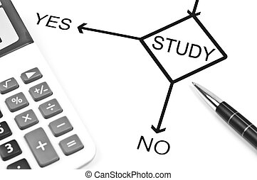 Study - Yes or No to choose Study