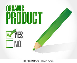 yes to organic products check list illustration design over...