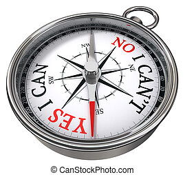 yes vs no concept compass