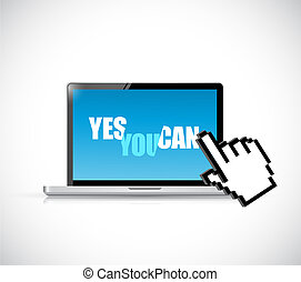 Yes you can computer message illustration
