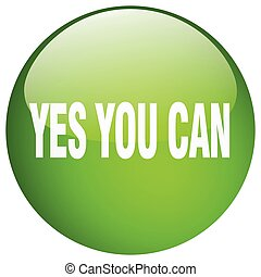 yes you can green round gel isolated push button