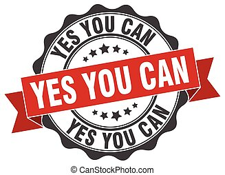 yes you can stamp. sign. seal