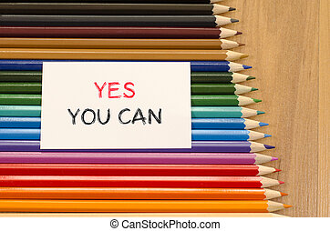 Yes you can text concept over pencil background