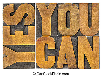 yes, you can word abstract in wood type