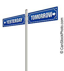 Yesterday Tomorrow Road Sign