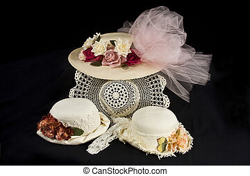 Yesteryear Hats - Assortment of Old-fashioned hats