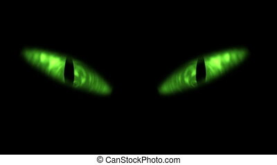 yeux, animation, blinking., chat