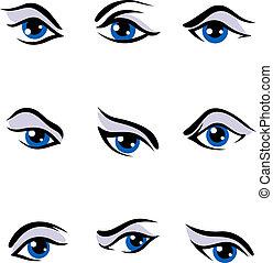 yeux, ensemble, humain