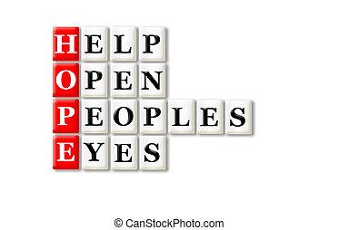 yeux, espoir